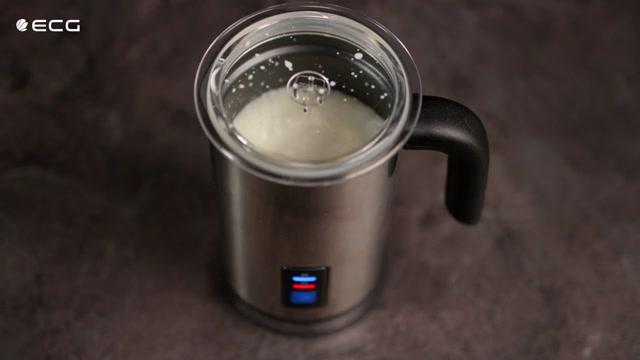 ECG NM 115 Milchaufschäumer Edelstahl Milchschäumer Max Temperatur 65 °C